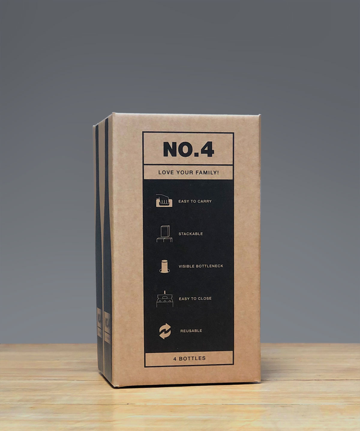 Weinflaschen Getränke Transport Kartonbox